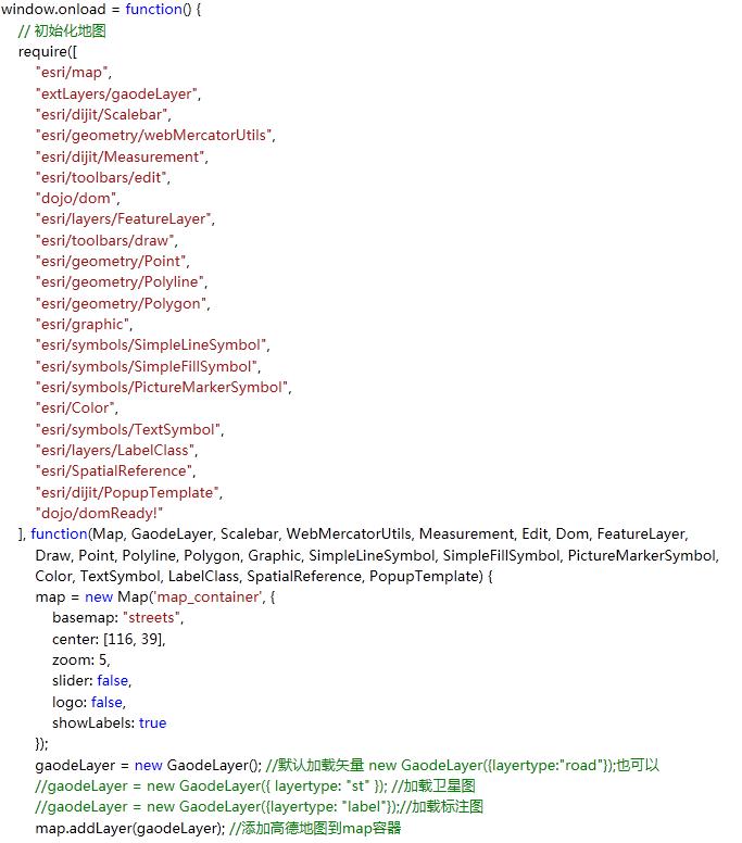 ArcGIS API for JavaScript 地图调用源码