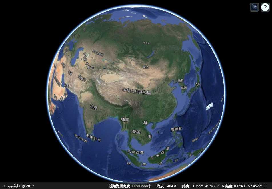 开源三维地球 Cesium 地图加载示例