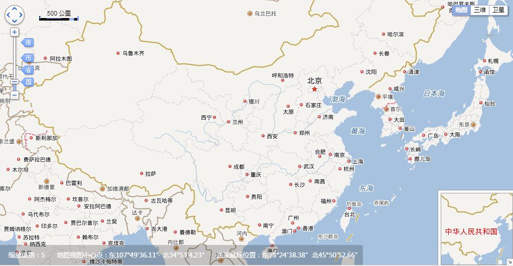 百度离线API地图调用示例