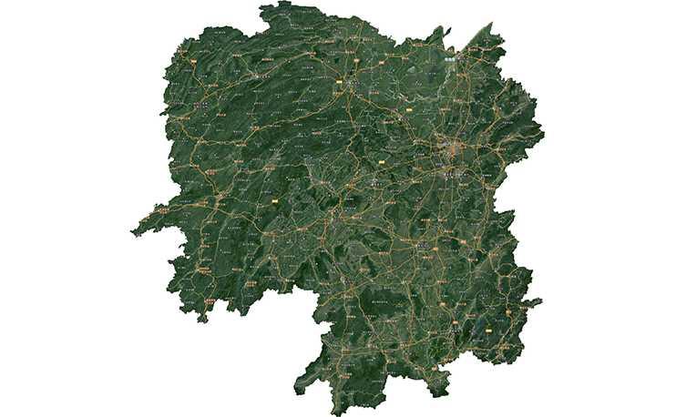 可导出无限大小的TIF卫星影像