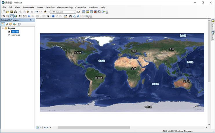 可以用 ArcGIS 桌面产品加载地图