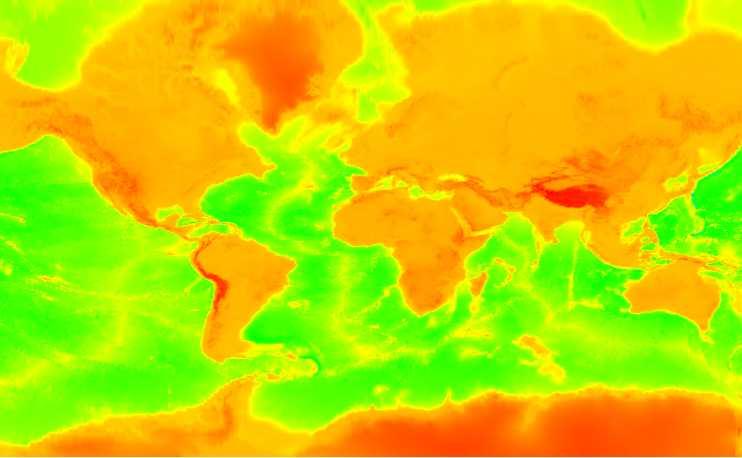 全球199GB谷歌地球 1-15 级高程DEM数据