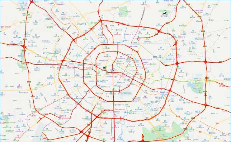 地名路网电子地图