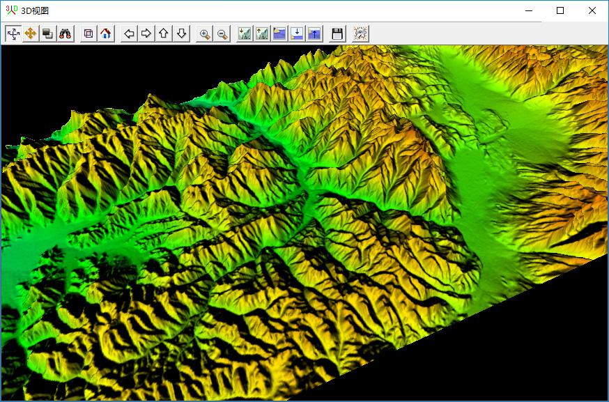 26下载的高程数据可显示三维地形地貌.jpg