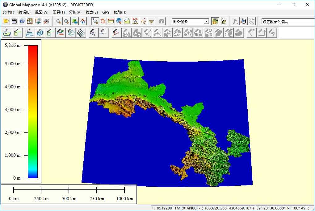 10甘肃省谷歌地球高程DEM数据在GlobalMapper中打开.jpg