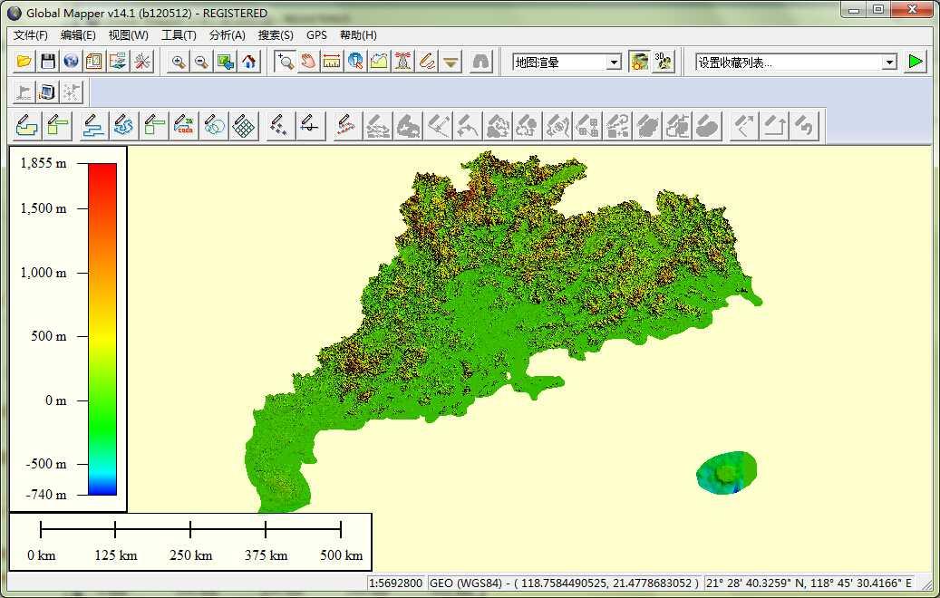11广东省谷歌地球高程DEM数据在GlobalMapper中打开.jpg