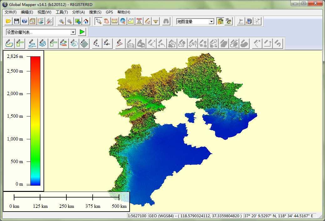 11河北省谷歌地球高程DEM数据在GlobalMapper中打开.jpg