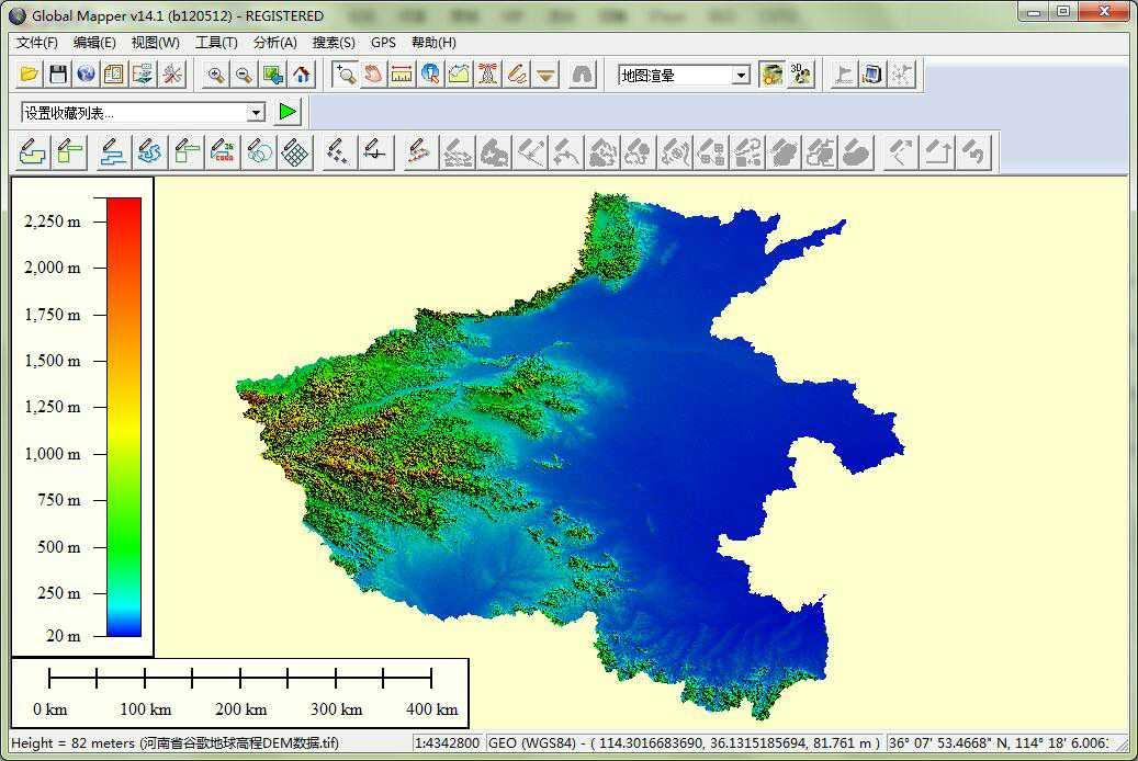 11河南省谷歌地球高程DEM数据在GlobalMapper中打开.jpg