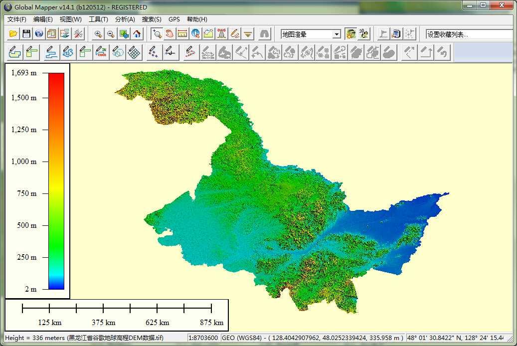 11黑龙江省谷歌地球高程DEM数据在GlobalMapper中打开.jpg