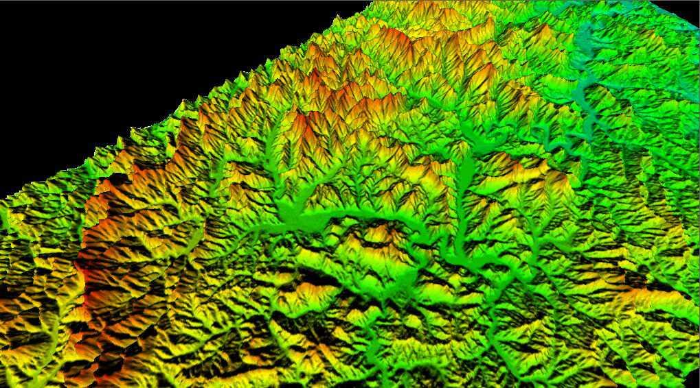 1辽宁省谷歌地球高程DEM数据三维效果图.jpg