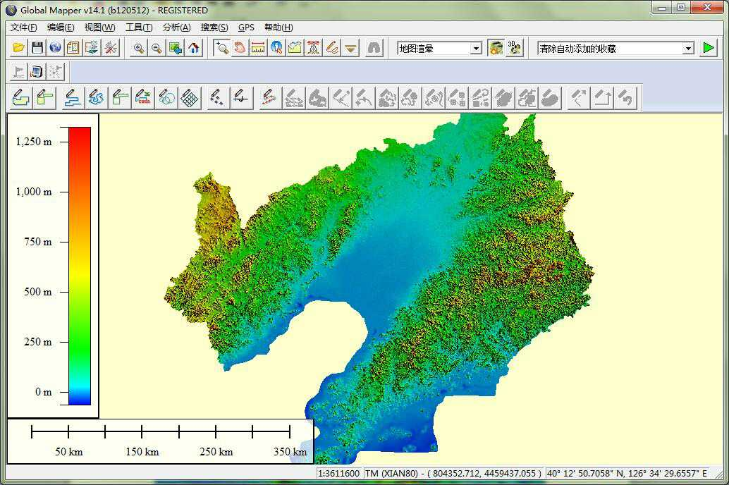 11辽宁省谷歌地球高程DEM数据在GlobalMapper中打开.jpg