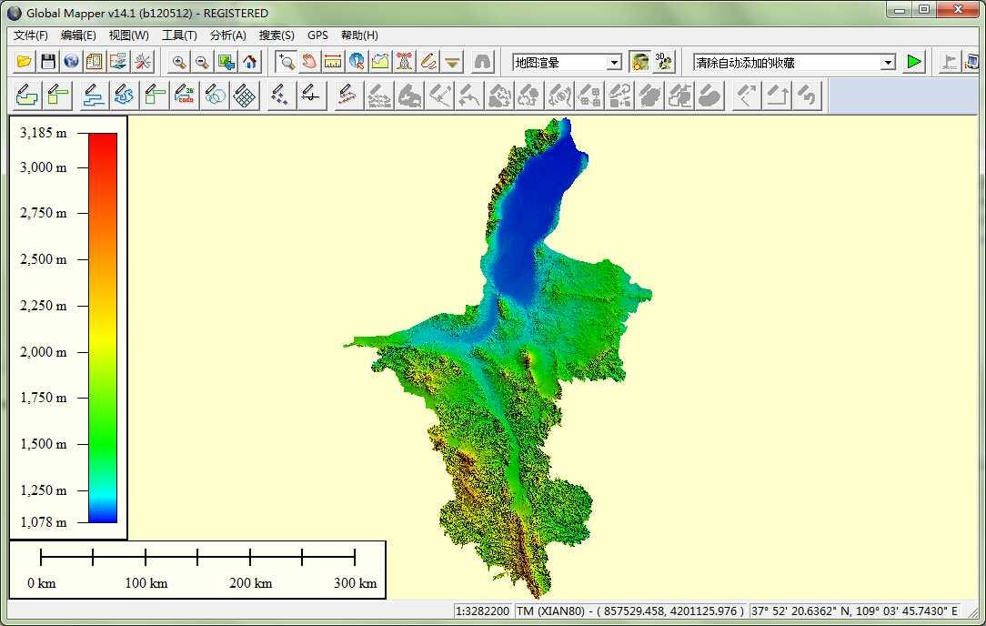 11宁夏省谷歌地球高程DEM数据在GlobalMapper中打开.jpg
