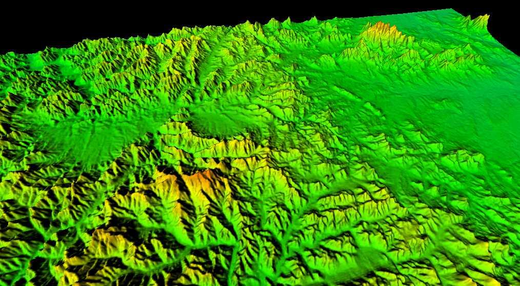 1山东省谷歌地球高程DEM数据三维效果图.jpg