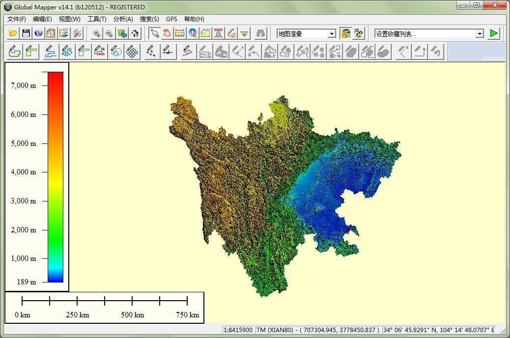 11四川省谷歌地球高程DEM数据在GlobalMapper中打开.jpg