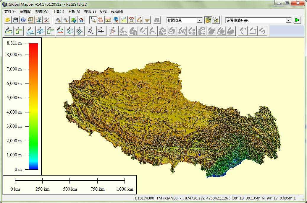 11西藏谷歌地球高程DEM数据在GlobalMapper中打开.jpg