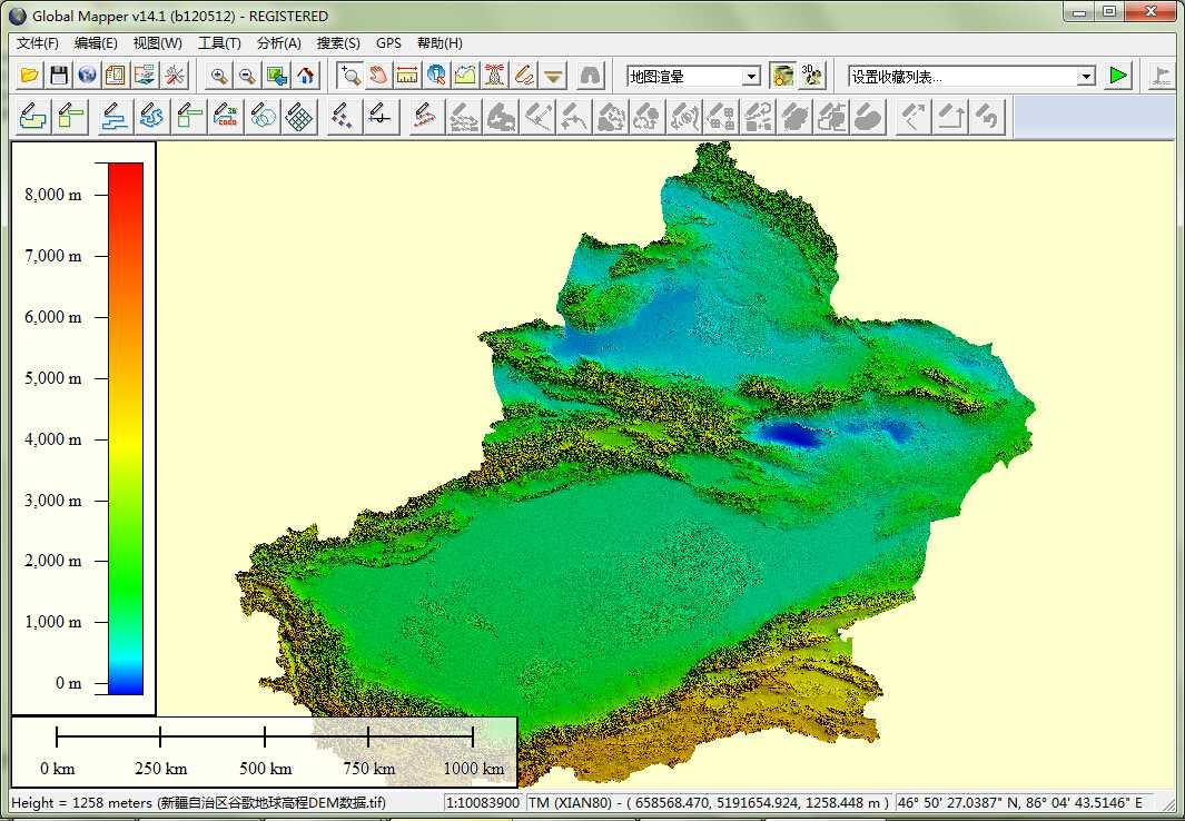 11新疆谷歌地球高程DEM数据在GlobalMapper中打开.jpg