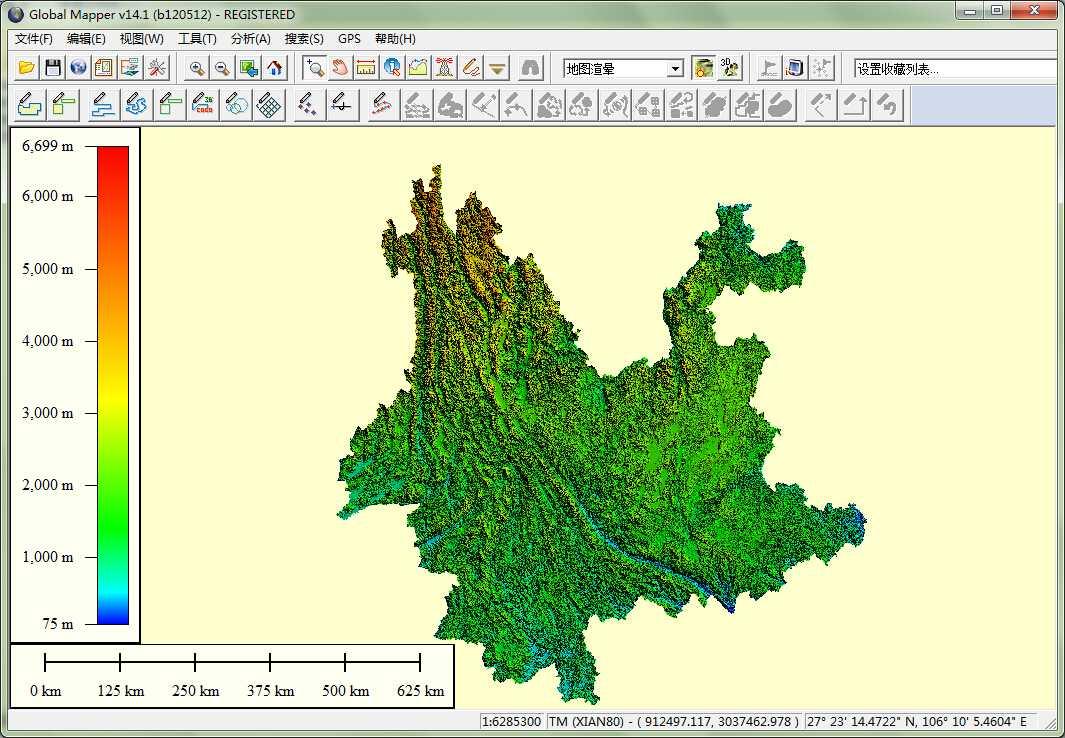 11云南省谷歌地球高程DEM数据在GlobalMapper中打开.jpg