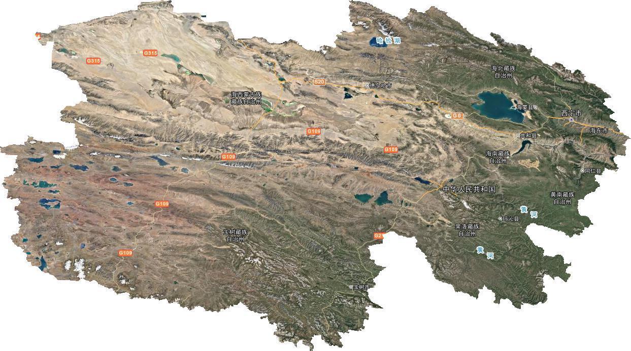 青海省谷歌高清卫星地图下载(百度网盘离线包下载)