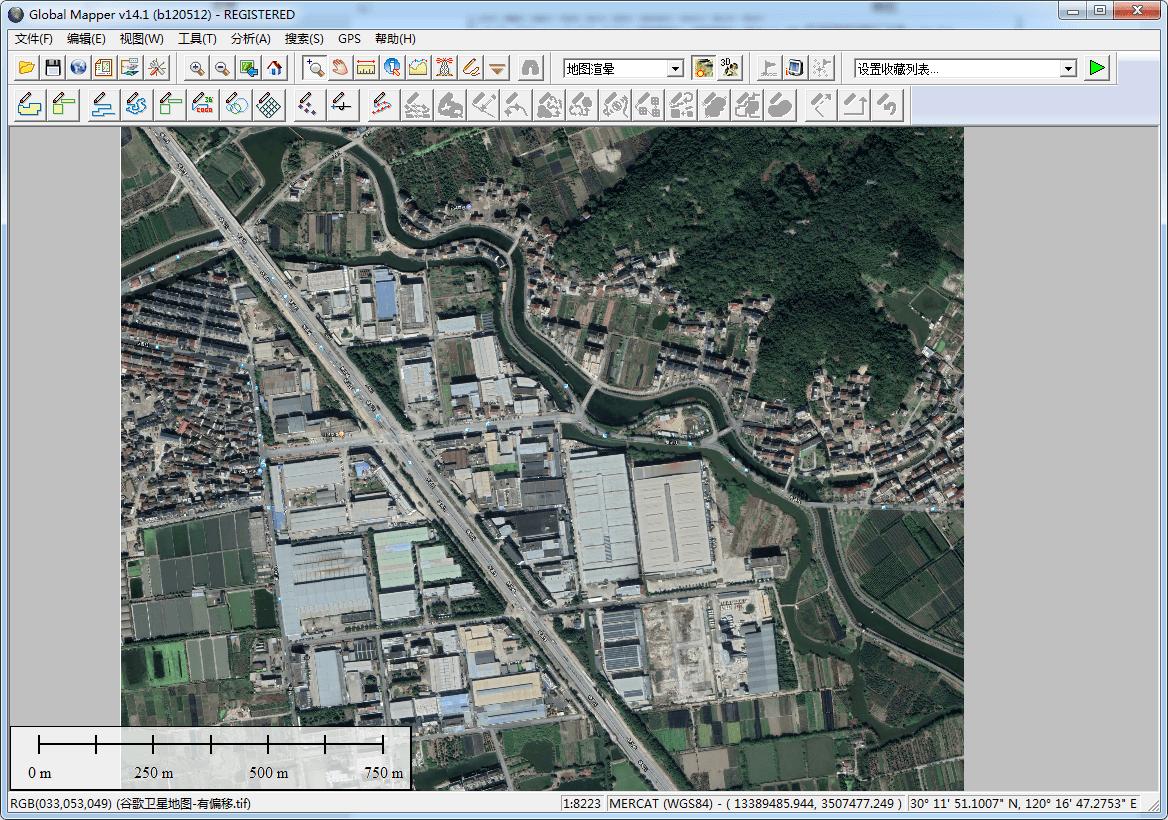 11在Global Mapper中打开卫星图.png