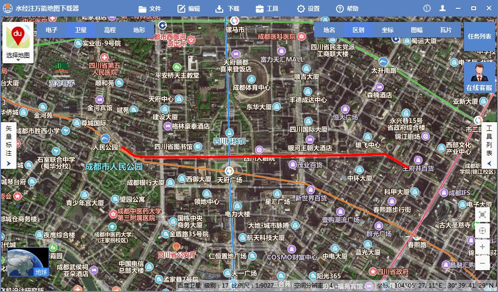 3百度地图上的路线.png