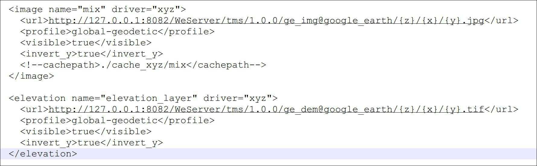 27OsgEarth代码中添加地图调用URL.jpg