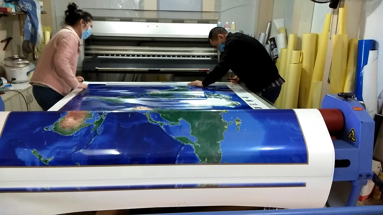 基于全球谷歌卫星影像的大字体挂图打印制作方法