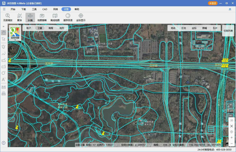 05奥林匹克公园电子地图与卫星影像叠加效果图一.jpg