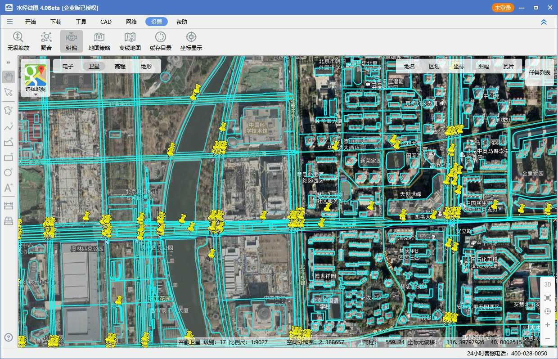 06奥林匹克公园电子地图与卫星影像叠加效果图二.jpg