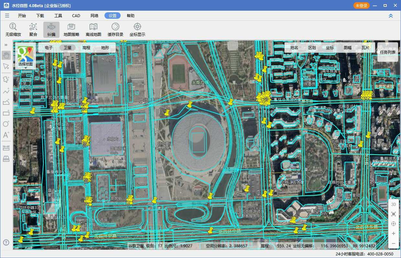 07奥林匹克公园电子地图与卫星影像叠加效果图三.jpg