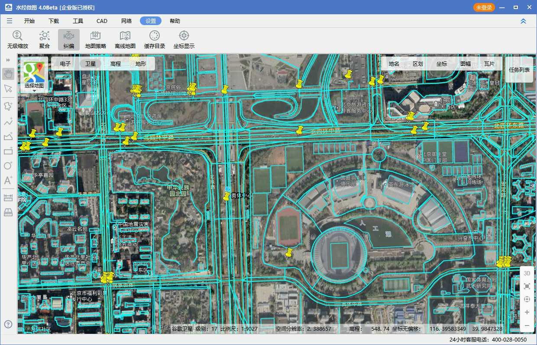 08奥林匹克公园电子地图与卫星影像叠加效果图四.jpg