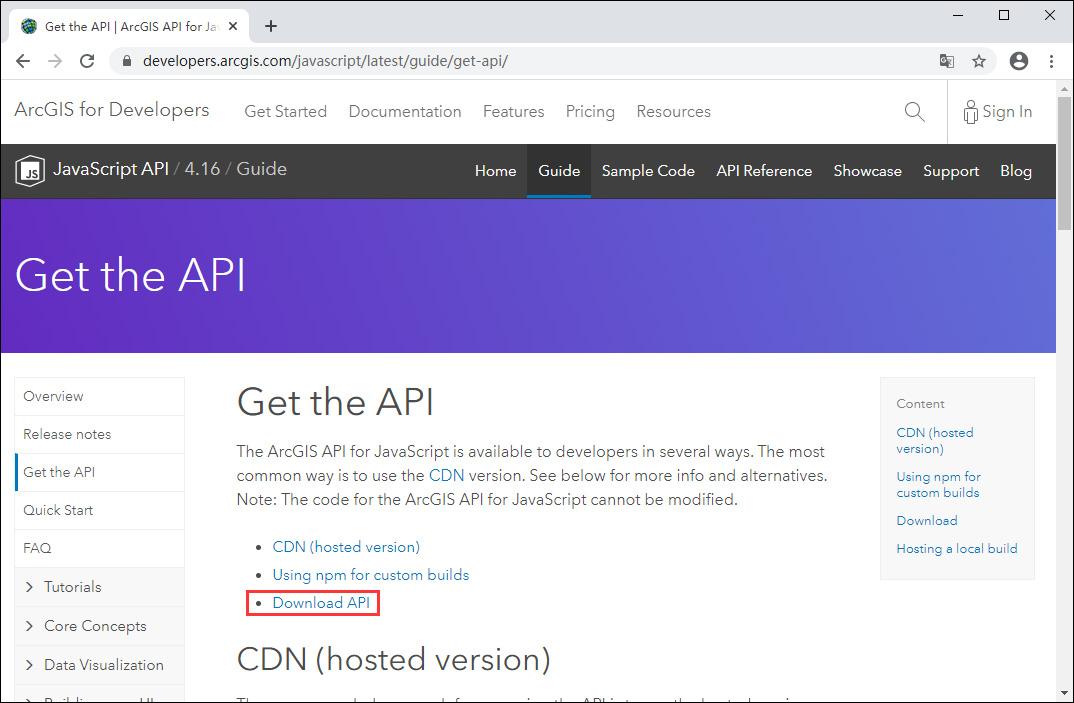 """06点击""""Download API""""项.jpg"""